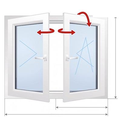 C: Двустороннее открытие, без окна центральной стойки