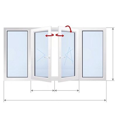 D: Двустороннее окно с замком