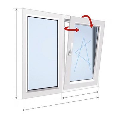 E: окно с закрытой и наклонной частью