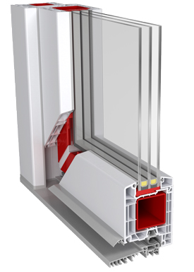 Дверной профиль с тройным пакетом.